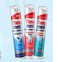 德国原装进口Theramed汉高牙膏防臭清新口腔立式牙膏4支x100g/支