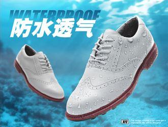 XFC高尔夫球鞋男女高尔夫鞋男鞋英伦款防水透气无钉软底运动鞋